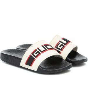 Босоножки черный белые Gucci Kids