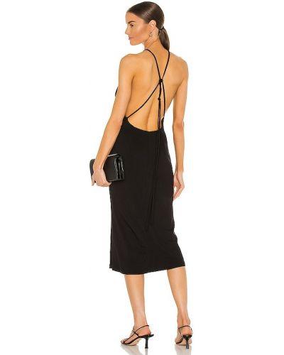 Черное трикотажное платье Bardot