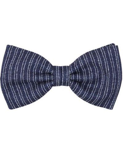 Biały krawat w paski Brioni