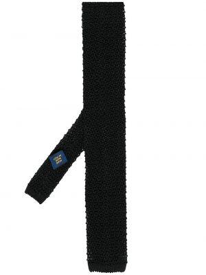 Черная шелковая резинка для волос с опушкой Polo Ralph Lauren