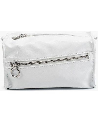 Лаковая белая кожаная сумка через плечо Befree