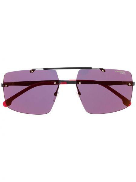 Черные солнцезащитные очки прямоугольные металлические с завязками Carrera