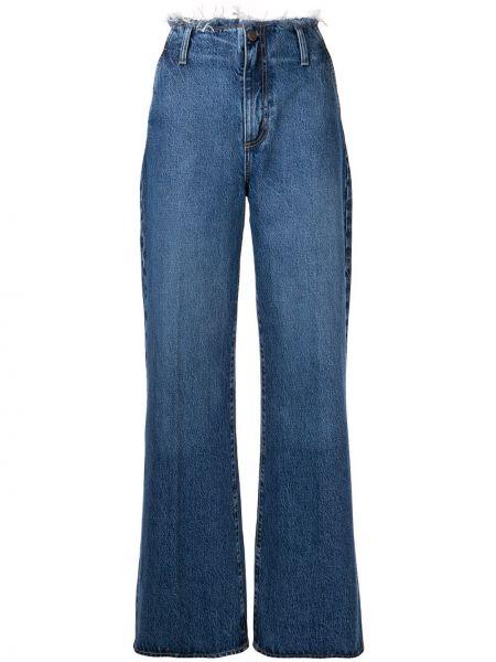 Хлопковые синие широкие джинсы с поясом свободного кроя Nobody Denim