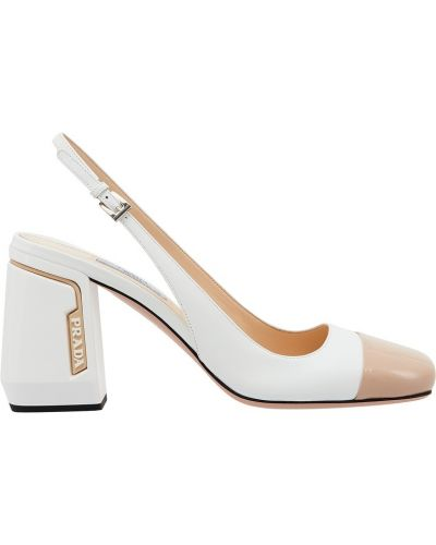 Туфли на каблуке кожаные на высоком каблуке Prada