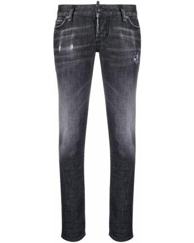 Облегающие зауженные джинсы - черные Dsquared2