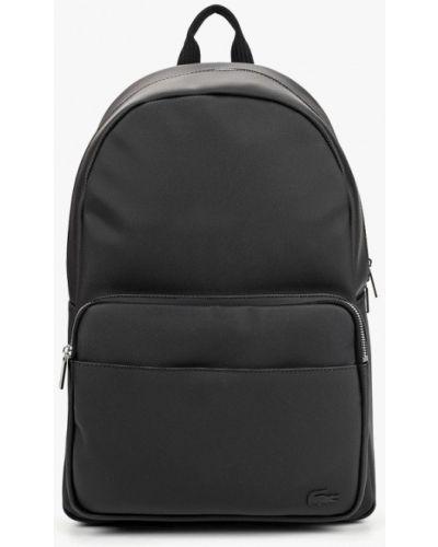 Черный рюкзак городской Lacoste