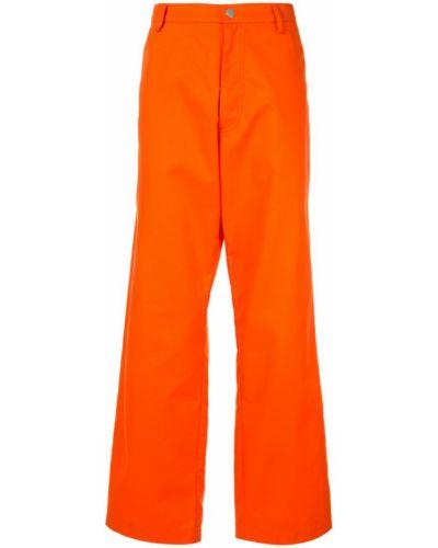 Прямые брюки с карманами оранжевые Zambesi