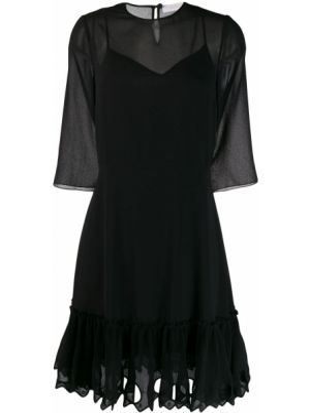 Платье на пуговицах черное See By Chloe