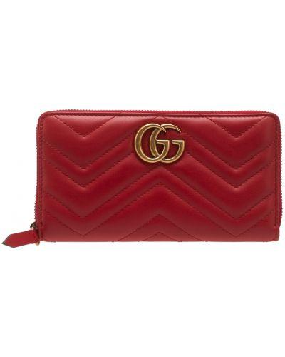Кожаный кошелек на молнии Gucci