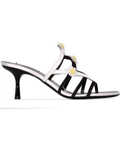 Черные сандалии Fabrizio Viti