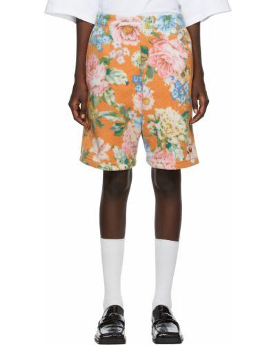 Оранжевые шорты с узором Martine Rose