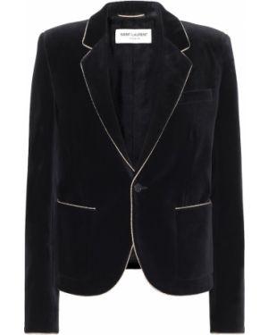 Пиджак черный бархатный Saint Laurent