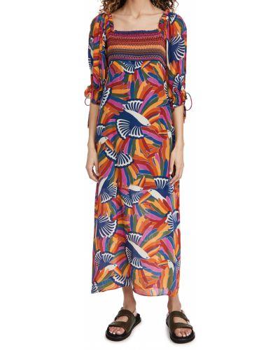 Sukienka długa z wiskozy z printem Farm Rio