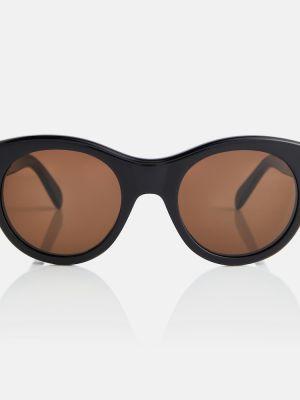 Черные солнцезащитные очки круглые Céline Eyewear