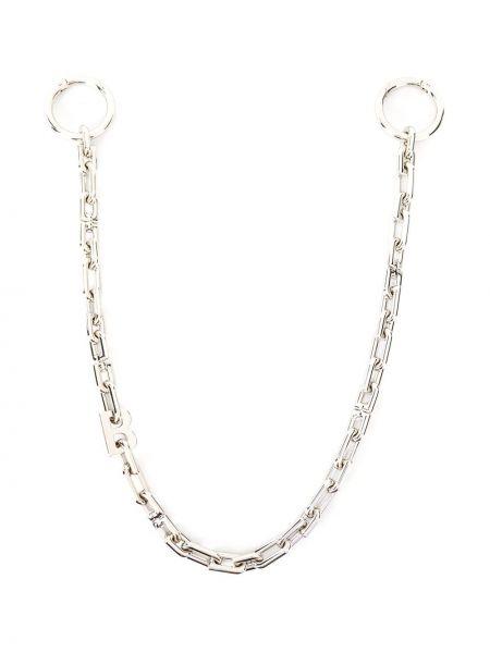 Łańcuch ze srebra srebrny Balenciaga