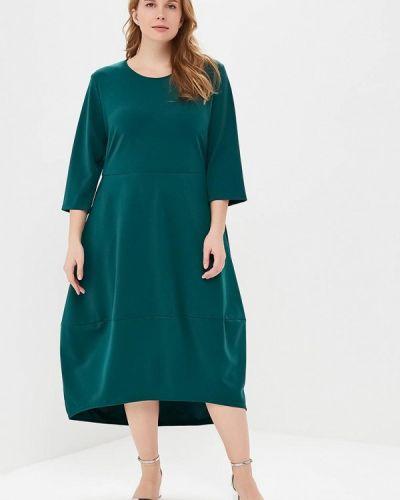 Платье миди осеннее зеленый Svesta
