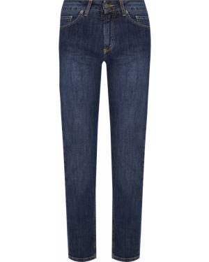 Синие джинсы бойфренды с карманами на пуговицах с открытой спиной Gender Denim