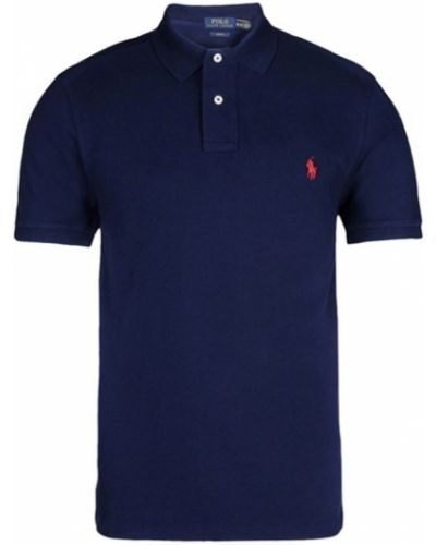 Niebieska koszulka bawełniana Ralph Lauren