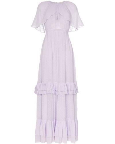 Фиолетовое платье макси с вырезом By Timo