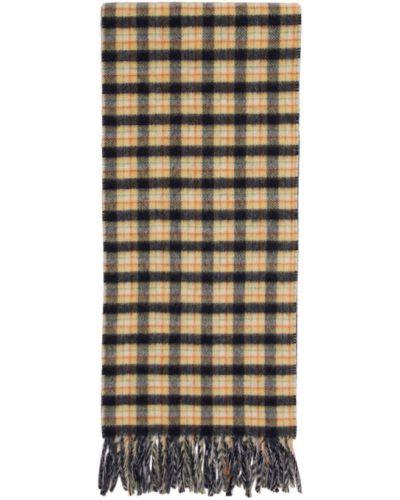 Шерстяной белый шарф прямоугольный Gucci