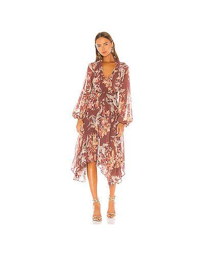 Платье миди с прозрачными рукавами на молнии Keepsake