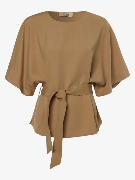Beżowa bluzka z paskiem Mos Mosh