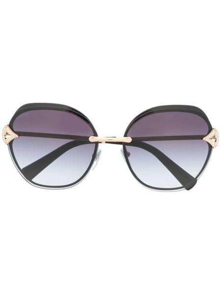 Черные солнцезащитные очки квадратные Bvlgari