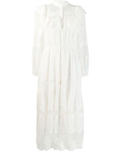 Платье миди на пуговицах с длинными рукавами Zimmermann