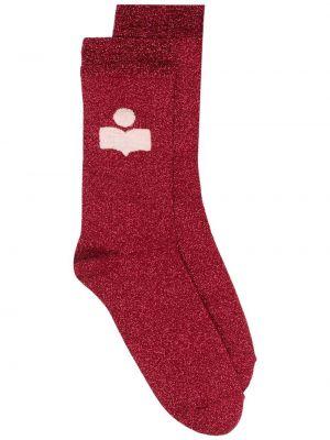 Красные носки с рисунком металлические Isabel Marant