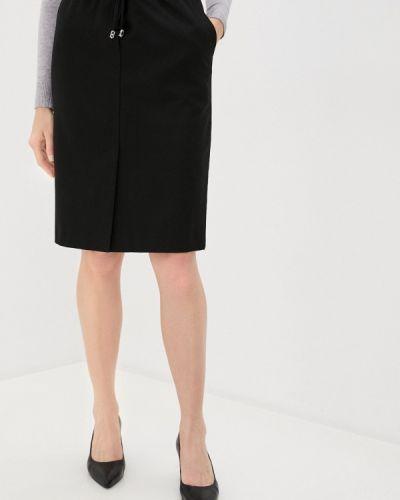 Прямая черная юбка карандаш Anna Verdi