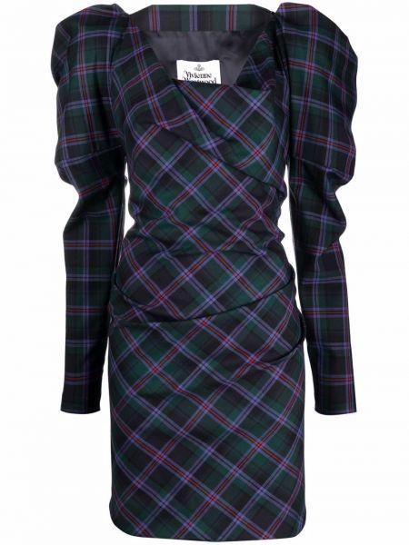Шерстяное платье макси - зеленое Vivienne Westwood