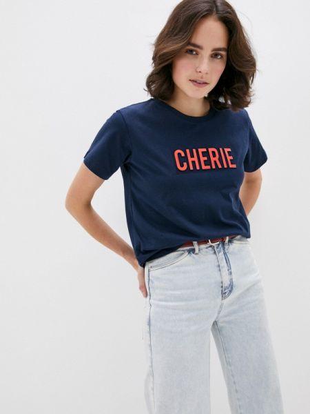 Поло футбольный синий Trussardi Jeans