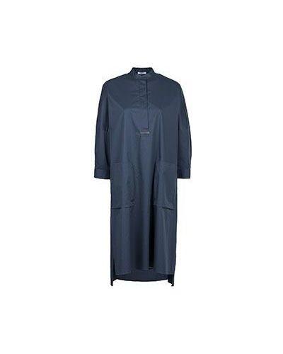 Синее хлопковое платье Peserico