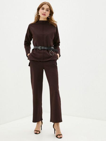 Брючный костюм коричневый Trendyangel