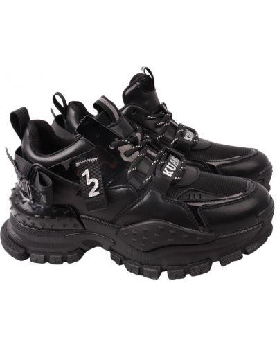Кожаные кроссовки - черные Berisstini
