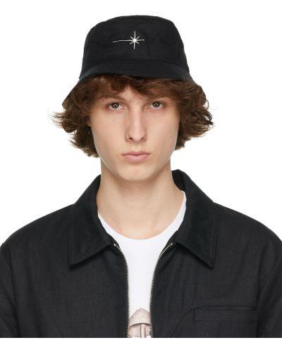 Czarny kapelusz bawełniany z haftem Eden Power Corp