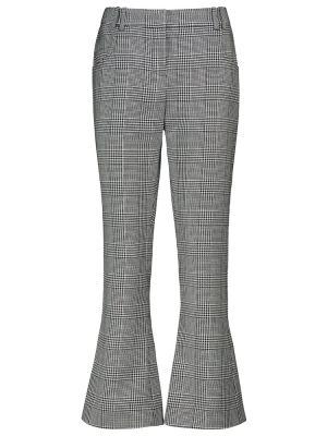 Черные шерстяные брюки Balmain