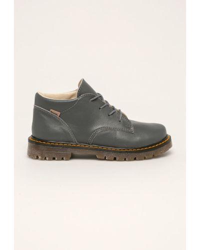 Туфли на каблуке серые Mrugała