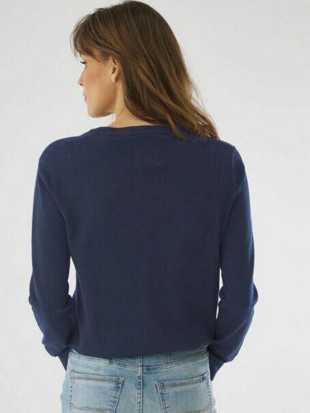 Синий длинный свитер круглый с вырезом Mexx