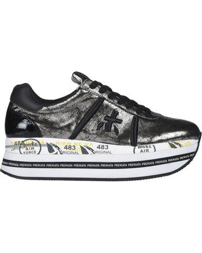 Кроссовки на платформе серебряный повседневные Premiata