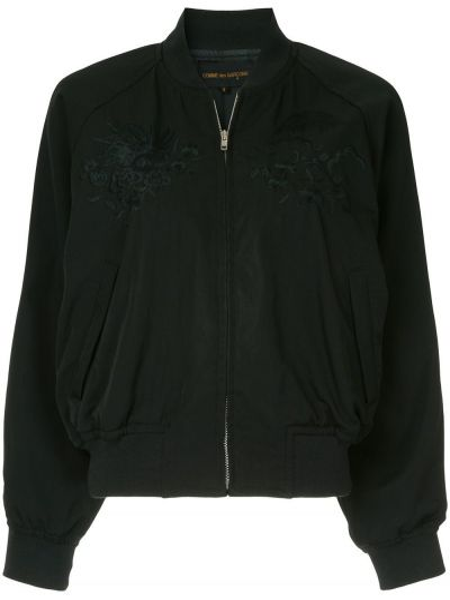 Черная куртка винтажная на молнии круглая Comme Des Garçons Pre-owned