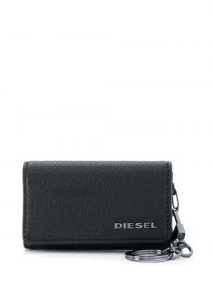 Кожаный картхолдер - черный Diesel