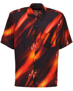 Koszula krótkie z krótkim rękawem klasyczna z wiskozy Aries