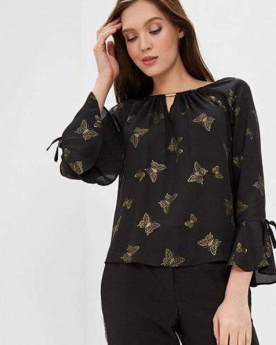 Блузка с рюшами черная Dorothy Perkins