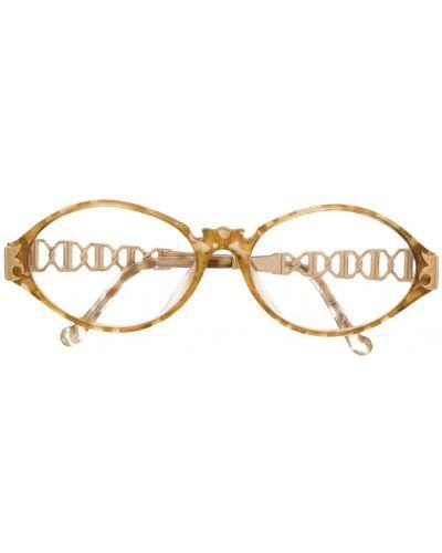 Желтые очки для зрения металлические Christian Lacroix Pre-owned
