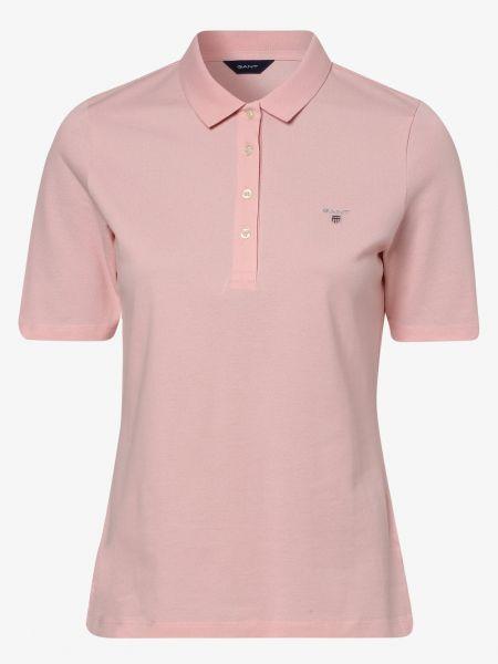 Różowa koszulka elegancka Gant