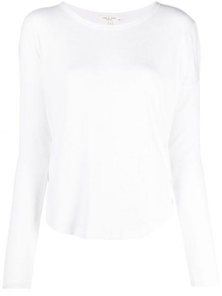 Biały top z długimi rękawami rozkloszowany Rag & Bone