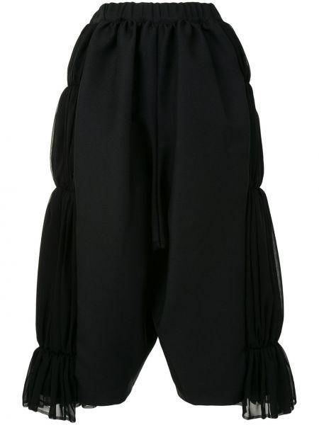 Черные свободные брюки с поясом свободного кроя с высокой посадкой Comme Des Garçons