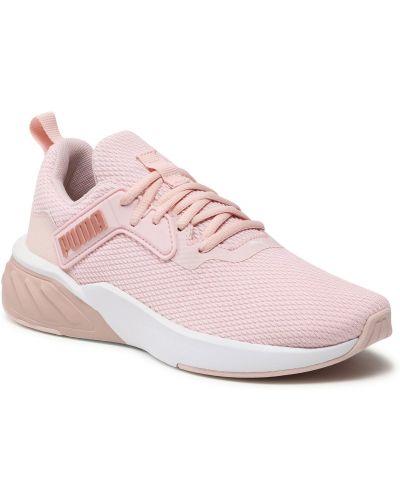 Złote buty sportowe - różowe Puma