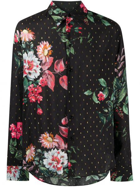 Czarna koszula z długimi rękawami z wiskozy Garçons Infideles